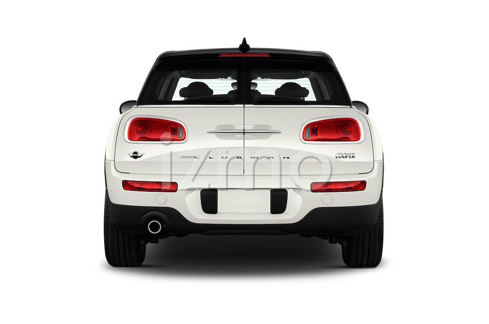 Straight rear view of 2016 MINI CLUBMAN Cooper 5 Door wagon Rear View  stock images