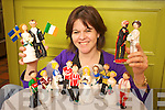 Jill Fitzgerald  who makes caricature wedding cake toppers at the family farm in Camp