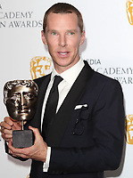 Benedict Cumberbatch at the Virgin Media BAFTA Television Awards 2019 - Press Room at The Royal Festival Hall, London on May 12th 2019<br /> CAP/ROS<br /> ©ROS/Capital Pictures