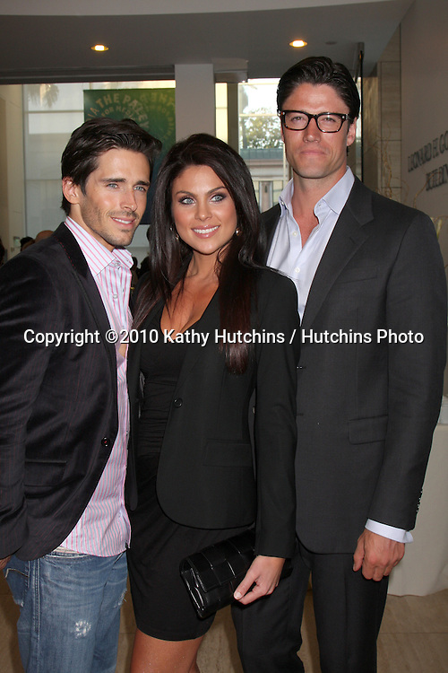 Brandon Beemer, Nadia Bjorlin, & James Scott.arriving at the Ken Corday Days of Our Lives Book Launch Party.Paley Center for Media.Beverly Hills, CA.April 29, 2010.©2010 Kathy Hutchins / Hutchins Photo...