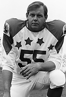 Wayne Harris 1970 Canadian Football League Allstar team. Copyright photograph Ted Grant