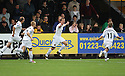 Jamie Collins of Newport celebrates scoring during the Blue Square Bet Premier match between Cambridge United and Newport County at the Abbey Stadium, Cambridge  on 25th September, 2010.© Kevin Coleman