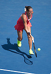 Roberta Vinci (ITA) takes the first set against Kristina Mladenovic (FRA) 6-3