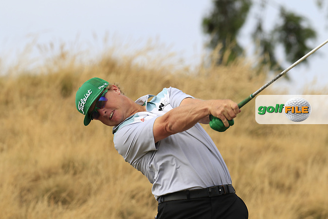 Charley HOFFMAN (USA) tees off the 16th tee during Thursday's Round 1 of the 2015 U.S. Open 115th National Championship held at Chambers Bay, Seattle, Washington, USA. 6/19/2015.<br /> Picture: Golffile | Eoin Clarke<br /> <br /> <br /> <br /> <br /> All photo usage must carry mandatory copyright credit (&copy; Golffile | Eoin Clarke)