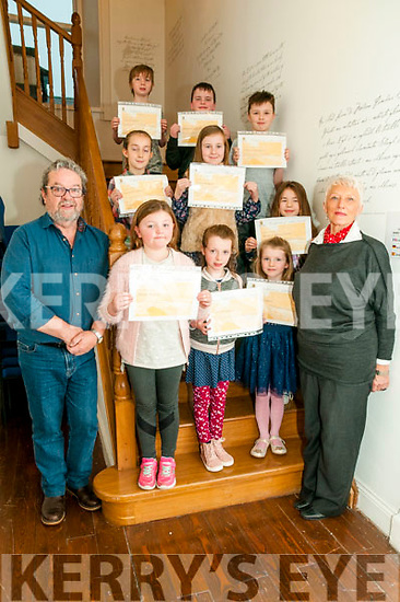 Creative Writing Class: Budding writers pictures at the end of their creative writing course at the Seanchai Centre, Listowel on Saturday last with course tutor Marion Relihan & poet John McGrath.