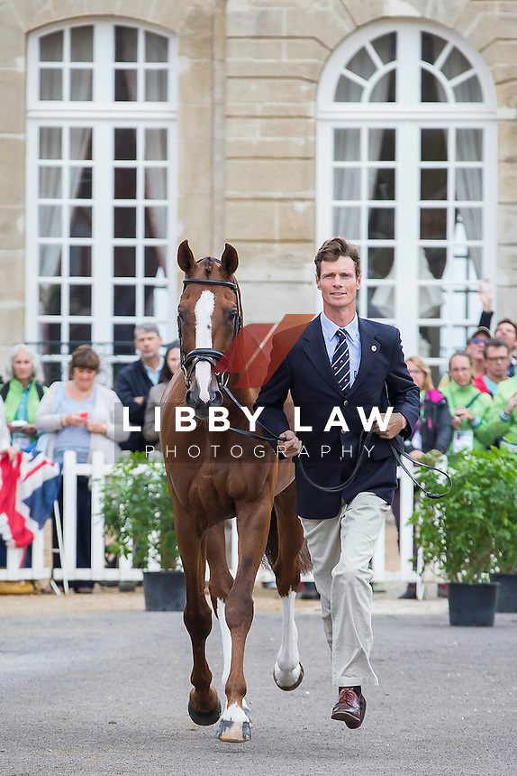 GBR-William Fox-Pitt (CHILLI MORNING) FIRST HORSE INSPECTION: EVENTING: The Alltech FEI World Equestrian Games 2014 In Normandy - France (Wednesday 27 August) CREDIT: Libby Law COPYRIGHT: LIBBY LAW PHOTOGRAPHY - NZL