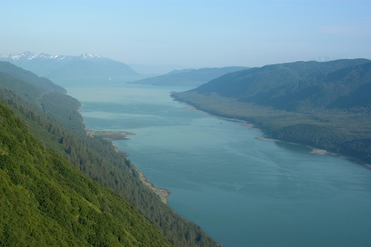 Alaska, Juneau: Gastineau Channel as seen from top of Mount Roberts..Photo #: alaska10172 .Photo copyright Lee Foster, 510/549-2202, lee@fostertravel.com, www.fostertravel.com..