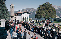 first riders passing by the famous Madonna del Ghisallo chapel (754m)<br /> <br /> Il Lombardia 2017<br /> Bergamo to Como (ITA) 247km
