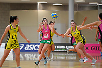 Southern Blast&rsquo;s Kiana Pelasio in action during the Beko Netball League - Central Manawa v Southern Blast at ASB Sports Centre, Wellington, New Zealand on Sunday 12 May 2019. <br /> Photo by Masanori Udagawa. <br /> www.photowellington.photoshelter.com