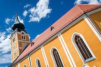 Austria, Styria, Schladming: catholic parish churches Saint Achatius | Oesterreich, Steiermark, Schladming: katholische Stadtpfarrkirche Hl. Achatius