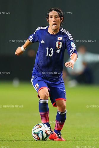 Hajime Hosogai (JPN), <br /> SEPTEMBER 5, 2014 - Football / Soccer : <br /> KIRIN Challenge Cup 2014 <br /> match between Japan - Uruguay <br /> at Sapporo Dome, Hokkaido, Japan. <br />  (Photo by Yohei Osada/AFLO SPORT) [1156]