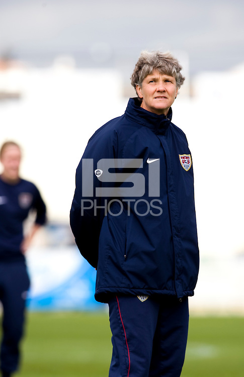 Pia Sundhage.  The USWNT defeated Iceland, 1-0, at Ferreiras, Portugal.