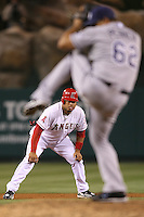 06/08/11 Anaheim, CA: Los Angeles Angels designated hitter Bobby Abreu #53 during an MLB game between the Tampa Bay Rays and The Los Angeles Angels  played at Angel Stadium. The Rays defeated the Angels 4-3 in 10 innings
