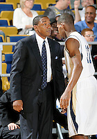 Florida International University Head Coach Isiah Thomas during the game against Bowling Green State University, which won the game 61-53 on December 22, 2011 at Miami, Florida. .