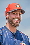 22 March 2015: Houston Astros pitcher Mark Appel is interviewed in the dugout during a Spring Training game against the Pittsburgh Pirates at Osceola County Stadium in Kissimmee, Florida. The Astros defeated the Pirates 14-2 in Grapefruit League play. Mandatory Credit: Ed Wolfstein Photo *** RAW (NEF) Image File Available ***