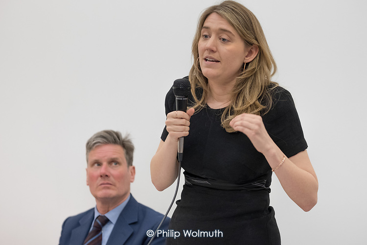 Georgia Gould, Camden Council leader and Kier Starmer MP.  Camden Labour Party manifesto launch for the May local government elections.