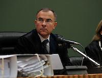 Processo ai boss del clan cammoristico dei Casalesi per le minacce allo scrittore di gomorra , Saviano<br /> nella foto il presidente del tribunale Aldo Esposito
