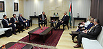 Palestinian Prime Minister Rami Hamdallah meets with Nikolay Mladenov, United Nations Special Coordinator for the Middle East Peace Process, in the West Bank city of Ramallah on May 29, 2017. Photo by Prime Minister Office