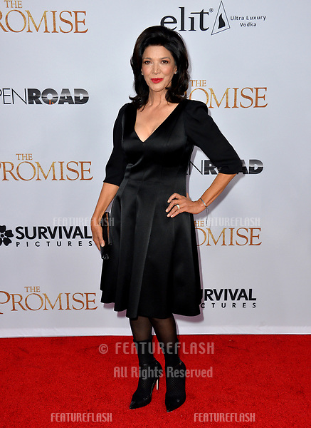 Shohreh Aghdashloo at the premiere for &quot;The Promise&quot; at the TCL Chinese Theatre, Hollywood. Los Angeles, USA 12 April  2017<br /> Picture: Paul Smith/Featureflash/SilverHub 0208 004 5359 sales@silverhubmedia.com