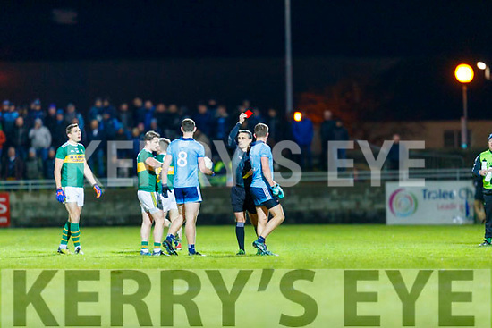 Michael Fitzsimons  Dublin receives a red card from referee  during the Allianz Football League Division 1 Round 3 match between Kerry and Dublin at Austin Stack Park in Tralee, Kerry on Saturday night.