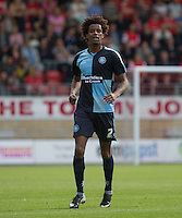 Sido Jombati of Wycombe Wanderers during the Sky Bet League 2 match between Leyton Orient and Wycombe Wanderers at the Matchroom Stadium, London, England on 19 September 2015. Photo by Andy Rowland.