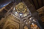 Mihrab und Maksoera-Kuppel, Mezquita (Innenansichten), Cordoba (Stadt), Andalusien, Spanien