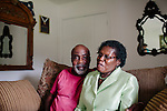 Addie Mae Collins was one of four girls killed in a bomb blast at 16th Street Baptist Church in Birmingham, Alabama in 1963. Her sister Sarah Collins Rudolph survived and lost an eye in the blast. She sits with her husband George in her Birmingham, Alabama home August 14, 2013.