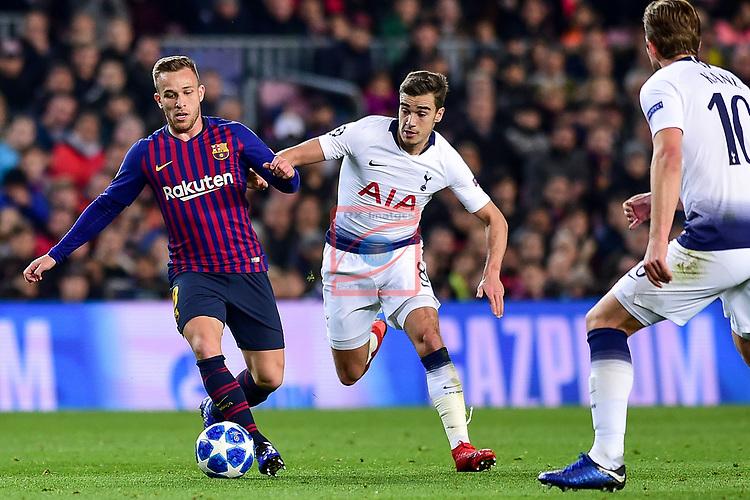 UEFA Champions League 2018/2019 - Matchday 6.<br /> FC Barcelona vs Tottenham Hotspur FC: 1-1.<br /> Arthur vs Winks.
