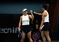Women's doubles final between Paige Hourigan / Vivian Yang (pictured) and Holly Stewart / Sarah Weekly. 2019 Wellington Tennis Open finals at Renouf Centre in Wellington, New Zealand on Sunday, 22 December 2019. Photo: Dave Lintott / lintottphoto.co.nz