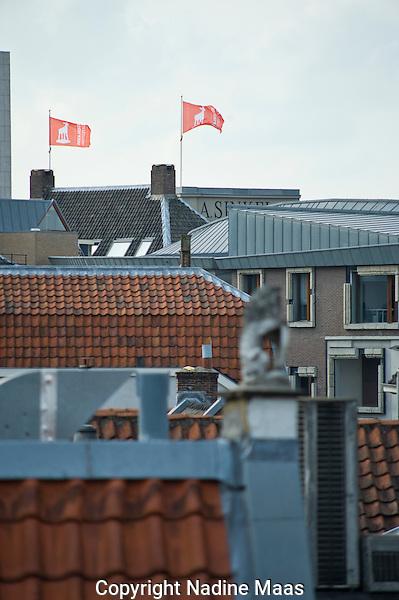 Utrecht, 1 oktober 2010.Nederlands Film Festival, NFF10.vlaggen, sfeer.Foto: Nadine Maas