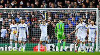 Leeds United players react to going 1-0 down<br /> <br /> Photographer Alex Dodd/CameraSport<br /> <br /> The EFL Sky Bet Championship - Leeds United v Hull City - Saturday 29th December 2018 - Elland Road - Leeds<br /> <br /> World Copyright © 2018 CameraSport. All rights reserved. 43 Linden Ave. Countesthorpe. Leicester. England. LE8 5PG - Tel: +44 (0) 116 277 4147 - admin@camerasport.com - www.camerasport.com
