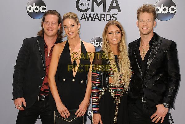 05 November 2013 - Nashville, Tennessee - Tyler Hubbard, Brian Kelley, Florida Georgia Line. 47th CMA Awards, Country Music's Biggest Night, held at Bridgestone Arena. <br /> CAP/ADM/BP<br /> &copy;BP/ADM/Capital Pictures