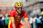 Jesus Herrada (ESP) Cofidis crosses the finish line of the 2018  Liège-Bastogne-Liège, Belgium, 22 April 2018, Photo by Pim Nijland / PelotonPhotos.com | All photos usage must carry mandatory copyright credit (Peloton Photos | Pim Nijland)