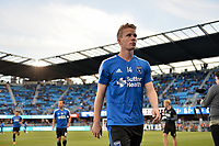 San Jose, CA - Saturday April 14, 2018: Jackson Yueill prior to a Major League Soccer (MLS) match between the San Jose Earthquakes and the Houston Dynamo at Avaya Stadium.