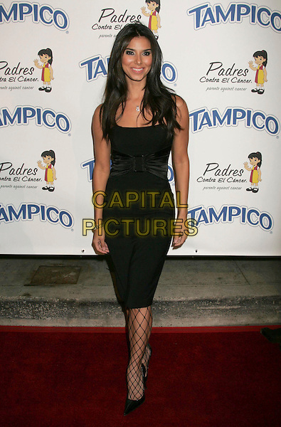 """ROSELYN SANCHEZ.Tampico Beverages Presents """"El Sueno de Esperanza"""" Gala to Benefit The PADRES Foundation held on the Desperate Housewives Wisteria Lane Set, Universal City, California, USA..September 6th, 2006.Ref: ADM/RE.full length black dress fishnet stockings.www.capitalpictures.com.sales@capitalpictures.com.©Russ Elliot/AdMedia/Capital Pictures."""