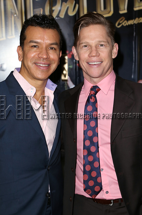 Sergio Trujillo and Jack Noseworthy attends the Broadway Opening Night Performance of  'Living on Love'  at  The Longacre Theatre on April 20, 2015 in New York City.