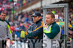 Eamonn Fitzmaurice Kerry Manager and Cian O'Neill the Munster Final at Fitzgerald Stadium, Killarney on Saturday evening.