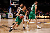 22nd March 2018, Wizink Centre, Madrid, Spain; Turkish Airlines Euroleague Basketball, Real Madrid versus Zalgiris Kaunas; Kevin Pangos (Zalgiris Kaunas) brings the ball foward