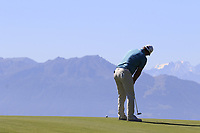 Ryan Fox (NZL) putts on the 7th green during Saturday's Round 3 of the 2018 Omega European Masters, held at the Golf Club Crans-Sur-Sierre, Crans Montana, Switzerland. 8th September 2018.<br /> Picture: Eoin Clarke | Golffile<br /> <br /> <br /> All photos usage must carry mandatory copyright credit (&copy; Golffile | Eoin Clarke)