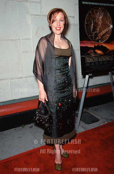 "20OCT99: Actress GILLIAN ANDERSON at the Los Angeles premiere of the Japanese animated movie ""Princess Mononoke"" for which she supplies the voice for one of the characters..© Paul Smith / Featureflash"