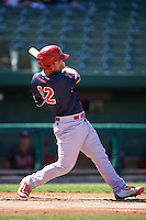 Peoria Chiefs first baseman Chris Chinea (12) at bat during the second game of a doubleheader against the South Bend Cubs on July 25, 2016 at Four Winds Field in South Bend, Indiana.  South Bend defeated Peoria 9-2.  (Mike Janes/Four Seam Images)