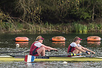 Caversham. Berkshire. UK<br /> Women's pair, Jess BROWN and Susie DEAR, competing in the  2016 GBRowing U23 Trials at the GBRowing Training base near Reading, Berkshire.<br /> <br /> Monday  11/04/2016 <br /> <br /> [Mandatory Credit; Peter SPURRIER/Intersport-images]