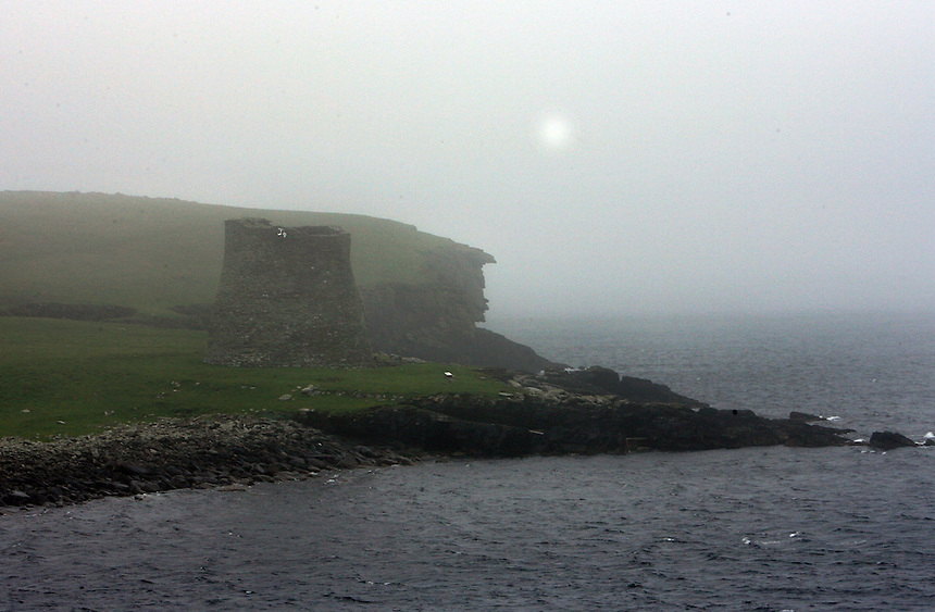The only complete broch in the world is on the   uninhabited island of Mousa, off the southeast coast of the main island of the Shetlands, Tuesday, Sept. 11, 2007. The round tower which was likely a fort as well as a residence, is 2,000 to 2,500 years old. Photo by Charles Osgood