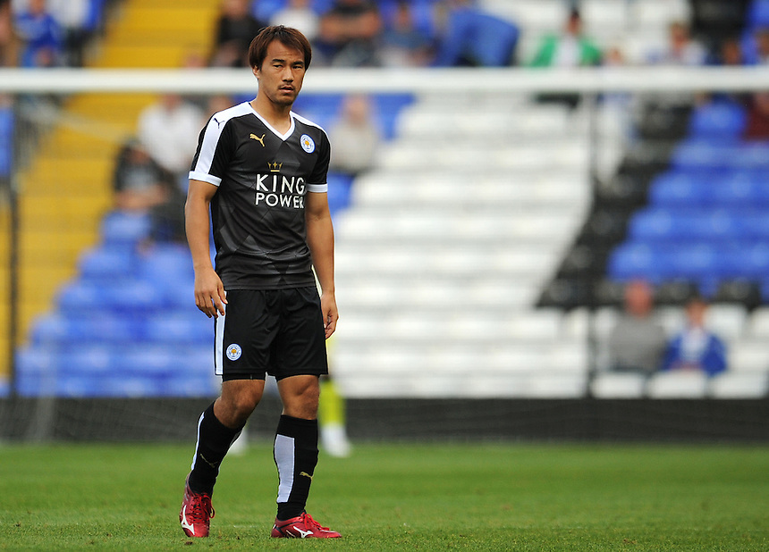 Leicester City&rsquo;s Shinji Okazaki in action during todays match  <br /> <br /> Photographer Kevin Barnes/CameraSport<br /> <br /> Football - Pre-Season Friendly - Birmingham City v Leicester City - Saturday 1st August 2015 - St Andrew's - Birmingham<br /> <br /> &copy; CameraSport - 43 Linden Ave. Countesthorpe. Leicester. England. LE8 5PG - Tel: +44 (0) 116 277 4147 - admin@camerasport.com - www.camerasport.com