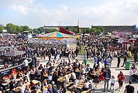Nederland Amsterdam 2018. Westergasfabriek. Drukte bij de Rollende Keukens.    Foto Berlinda van Dam / Hollandse Hoogte