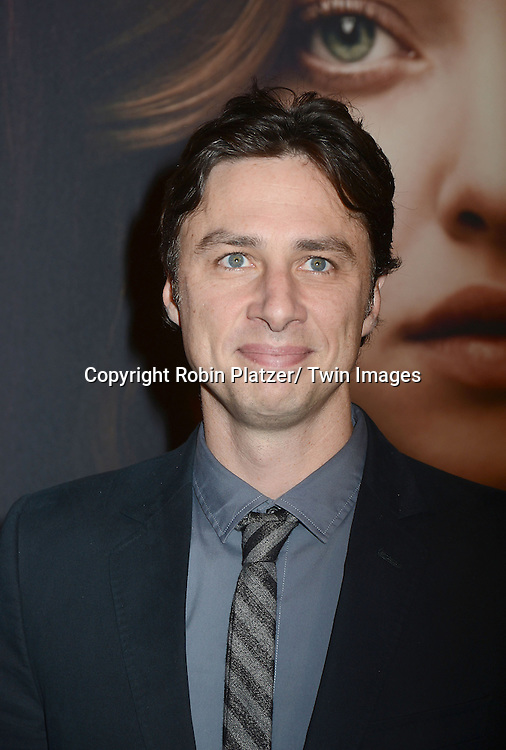 "Zach Braff attends the American Premiere of ""Les Miserables"" on December 10, 2012 at the Ziegfeld Theatre in New York City. The movie stars Hugh Jackman, Anne Hathaway, Amanda Seyfried, Eddie Redmayne, Russell Crowe, Samantha Barks, Isabelle Allen and Sacha Baron Cohen."