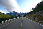 PAVED ROAD IN KANANSKIS COUNTRY, ALBERTA, CANADA