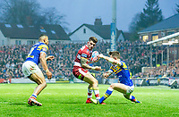Picture by Allan McKenzie/SWpix.com - 13/04/2018 - Rugby League - Betfred Super League - Leeds Rhinos v Wigan Warriors - Headingley Carnegie Stadium, Leeds, England - Oliver Gildart.