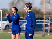 Megan Rapinoe #15 of the United States reacts to a play