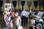Crowds wander through the exhibit hall at the NV150 Fair at Fuji Park, in Carson City, Nev., on Saturday, Aug. 2, 2014.<br /> Photo by Cathleen Allison